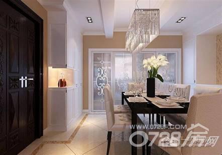 后现代的120平方米三房二厅二卫餐厅装修效果图欣赏