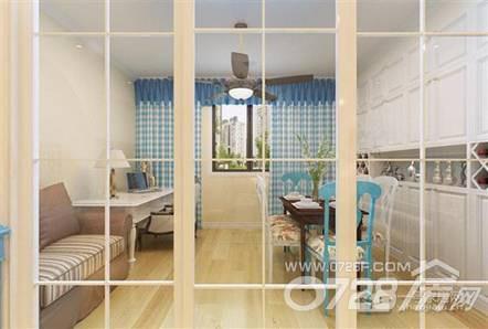 地中海的100平方米三房二厅一卫客厅侧面装修图片