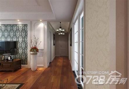 90平美式风格客厅效果图