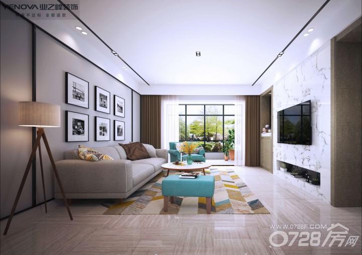 【业之峰】锦绣江山9-2-2201---现代风格